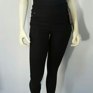 Pants - Black High Waisted MOTO leggings