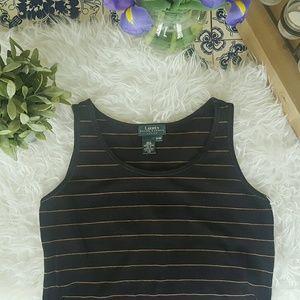 Ralph Lauren Tops - RALPH LAUREN vintage striped black tank top