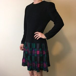 Saks Fifth Avenue Dresses & Skirts - Vintage David Warren Drop Waist Plaid Dress