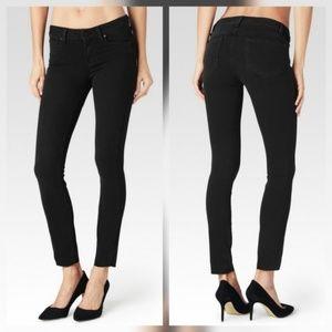 Paige Verdugo Ankle Jeans Raw Hem Black Fog