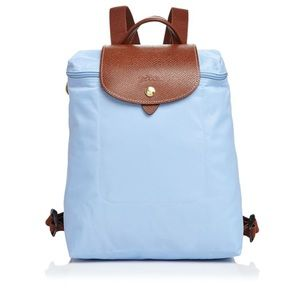 Longchamp Handbags - Baby blue mini Longchamp backpack