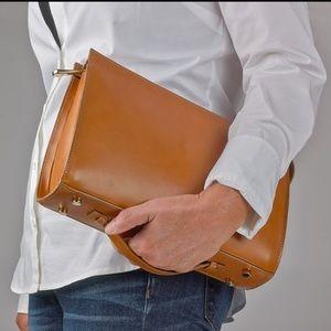 GiGi New York Handbags - Gigi New York Saint Germain Clutch in Tan