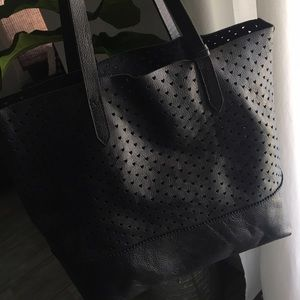 J.Crew downing tote in perforated hearts