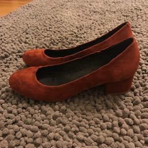 f0c57b7dade Jeffrey Campbell Shoes - Jeffrey Campbell Bitsie heels in rust suede.