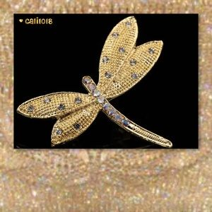 Glam Squad 2 You Jewelry - JUST IN🆕Gold Austrian Crystal Dragon Fly Brooch