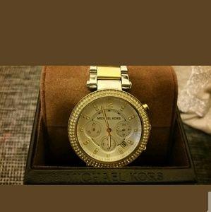 Michael Kors Accessories - LIKE NEW Michael Kors Two-tone Parker Watch