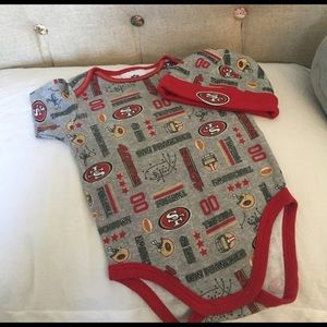 Other - NFL SF 49ers baby bodysuit with hat.