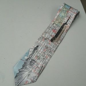 Rene Chagal Other - Rene Chagal New York City Map Men's Tie
