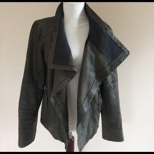 GAP Jackets & Blazers - LN premium lamb skin charcoal grey leather jacket