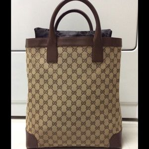 Gucci Handbags - Gucci GG Canvas & Leather Satchel Bag