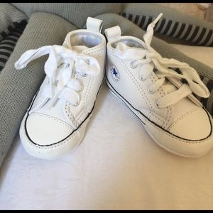 Converse Other - Adorable leather White baby Converse.