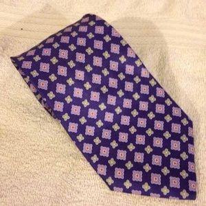 Jos. A. Bank Other - Jos A Bank Purple w/ Grey Check Tie