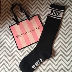 PINK Victoria's Secret Accessories - Victoria's Secret pink high knee socks