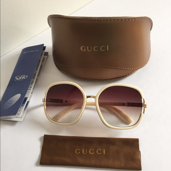 bf15639da98 Gucci Accessories - Auth Gucci Sunglasses GG 3207 F S Round Off White