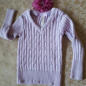Cherokee Other - CHEROKEE Cable Knit Sweater Size 4 Purple