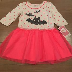 Circo Other - Cream with Pink polka dots 🦇 Bats Dress Sz 2t
