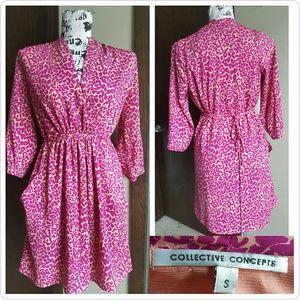 Collective Concepts Dresses & Skirts - Collective Concepts Leopard Print Dress