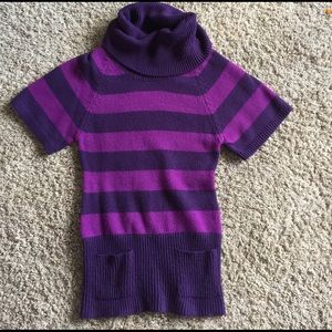 Planet Gold Sweaters - Cute purple striped sweater