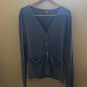 American Apparel Sweaters - American Apparel blue cotton blend cardigan