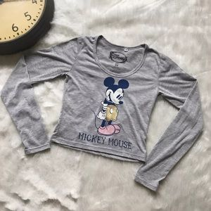 Disney Mickey Mouse Crop Top Size XS Hipster