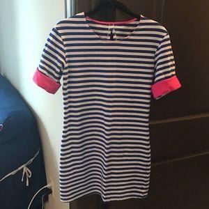 ChicWish Dresses & Skirts - Blue & White Striped T-Shirt Dress