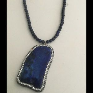 Jewelry - Lapis necklace with marcasite
