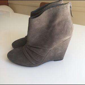 Marco Santi Shoes - Grey Wedge Booties