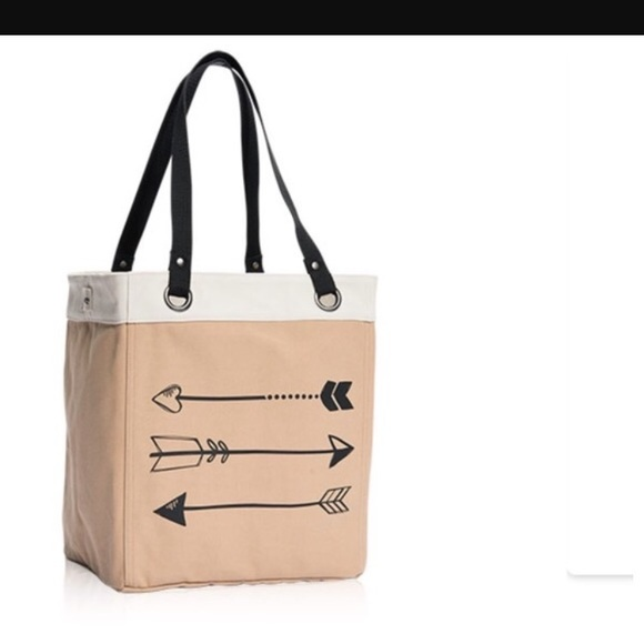 Thirty One Arrows Canvas Storage Tote