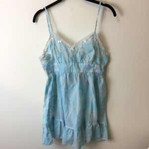Betsey Johnson Other - Betsey Johnson Intimates Baby Blue Nighty Dress