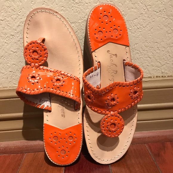 d044597811399 Jack Rogers Shoes - Orange Jack Rogers palm beach sandals size 8.5