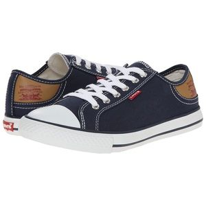 Mens Navy Levi's Stan Buck Canvas Sneakers