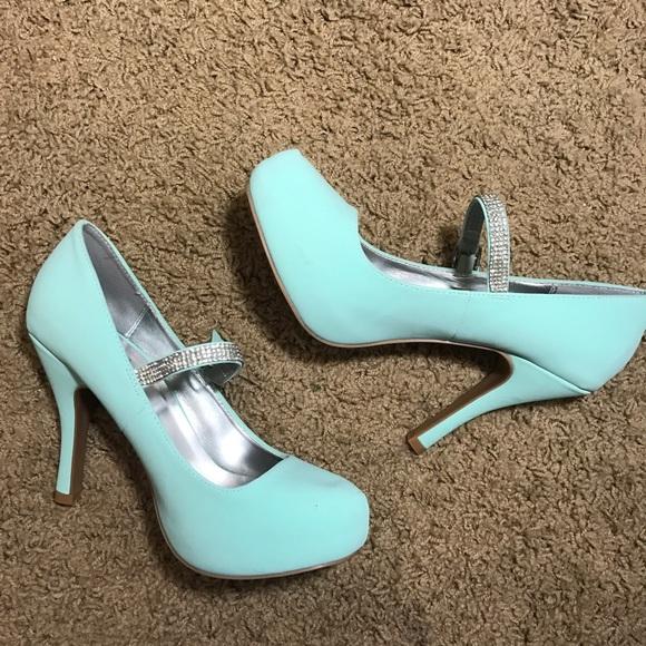 Qupid shoes tiffany blue heels poshmark tiffany blue heels junglespirit Image collections