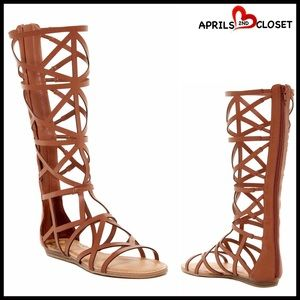 Fergalicious Shoes - Vegan leather Boots Tall Gladiator Sandal Boots