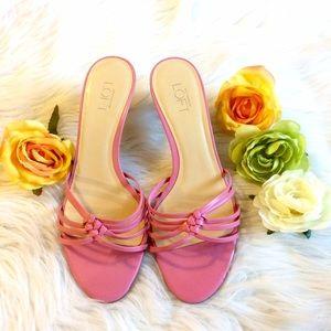 Loft Pink Leather Sandals