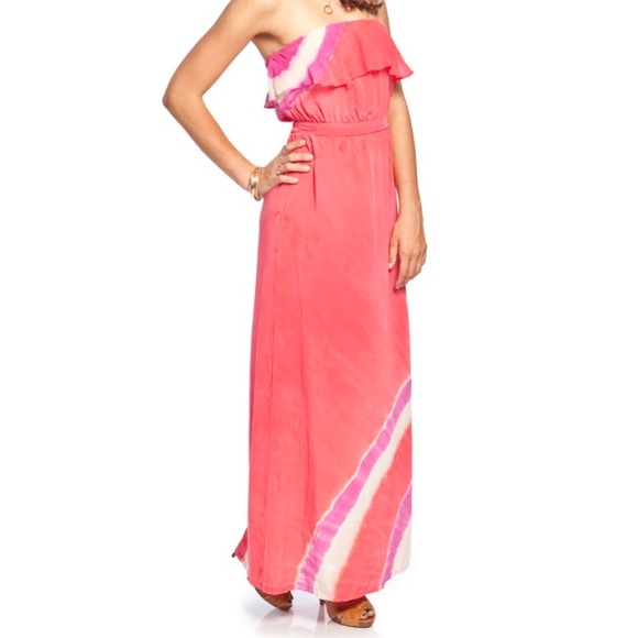 Gypsy 05 Dresses & Skirts - Gypsy 05 silk maxi dress with ruffle