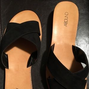 abound Shoes - ABOUND SIZE 9 NIB BLACK FLAT SUMMER SHOES