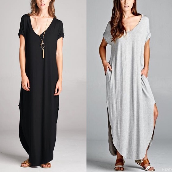 Bellanblue Dresses - 🆕CHARLIZE solid boho dress - BLACK