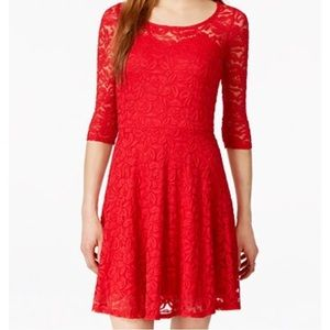 Macy's Dresses & Skirts - Red Lace Dress