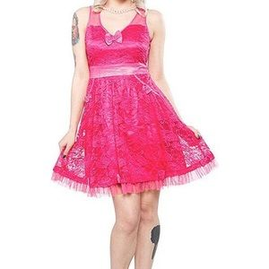 Dress, Hot Pink SourPuss Clothing Rockabilly