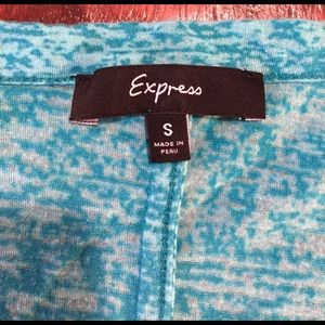 Express Tops - Express V-Neck Burnout Tee