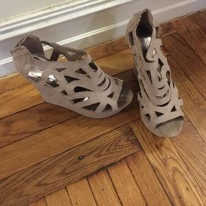 Madden Girl Shoes - Tan Madden Girl Wedges