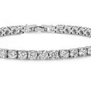 Jewelry - Classic 18k white gold filled tennis bracelet