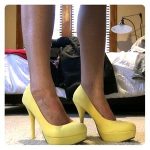 bamboo Shoes - BNWT Bamboo 🌼spring yellow pumps🌼