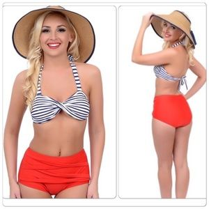 Other - Vintage style High Waist Swimsuit