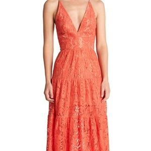 Dress the Population Dresses & Skirts - Boho Illusion Embellished Lace Maxi Gown