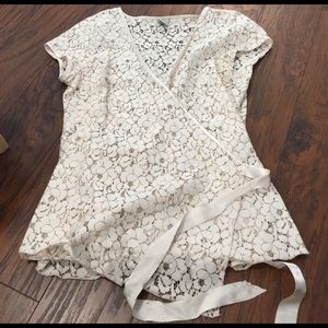 Old Navy Sweaters - Cream Old Navy Maternity Lace Cardigan Size M