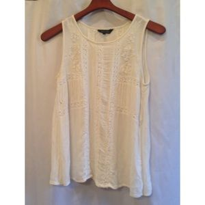 Cream Crochet Tank Top