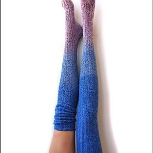 Peony and Moss Accessories - Peony and moss over the knee sweater socks nwt