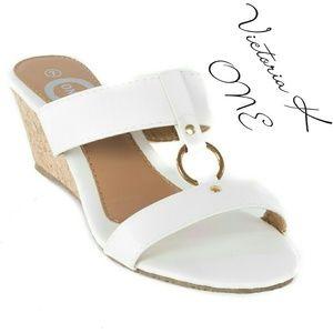 Tory K  Shoes - Women Open Toe Sandals,  HS-2084, White