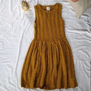 Anthropologie Flared & Cabled Sweater Dress